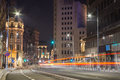Bucharest center night scene Royalty Free Stock Photo