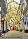 Bucharest - glass covered street Royalty Free Stock Photos