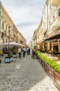 Bucharest historical center romania may lipscani street on may in romania lipscani is a street of which in the middle ages was Royalty Free Stock Photo
