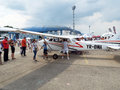 Bucharest international air show  bias the largest in romania takes place in baneasa airport Stock Photography