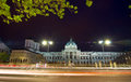 Bucharest by night coltea old hospital and church is the oldest in dating from destroyed in the earthquake the building we see Royalty Free Stock Photography