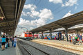 Bucharest north railway station gara de nord romania august on august in romania is the main Stock Images