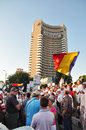 Bucharest protests against president Basescu Royalty Free Stock Image