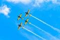 BUCHAREST, ROMANIA, 2015: Acrobatic planes at Bucharest Internat Royalty Free Stock Photo