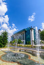 BUCHAREST, ROMANIA - AUGUST 30 , 2015: The National Library Royalty Free Stock Photo