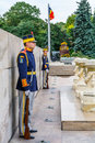 Bucharest, Romania - December 20, 2015: National Guardsmen