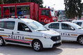 BUCHAREST, ROMANIA - SEPTEMBER 2013, police vehicles Royalty Free Stock Photo