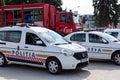 BUCHAREST, ROMANIA - SEPTEMBER 2013, police vehicles Royalty Free Stock Photo