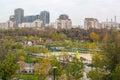 Bucharest romania tineretului park youth s park view in autu autumn Stock Photos