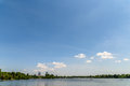 Bucharest Skyline View In Herastrau Park Royalty Free Stock Photo