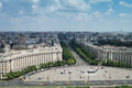 Bucharest from top view of the city people s palace in romania second largest government buiding in the world Royalty Free Stock Image