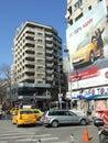 Bucharest traffic on nicolae balcescu avenue downtown in romania Royalty Free Stock Photo