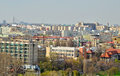 Bucharest view panoramic of romania from th floor of parliament palace Stock Images