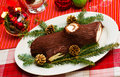 Buche de Noel cake Royalty Free Stock Images