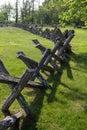 Buck Rail Fence- Blue Ridge Parkway, Virginia, USA Royalty Free Stock Photo