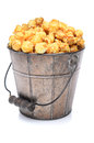 Bucket of Caramel Corn Royalty Free Stock Photo
