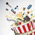 Bucket full of Entertainment Stock Images