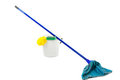 Bucket and mop Royalty Free Stock Photo