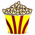 Bucket with popcorn Royalty Free Stock Photo
