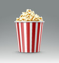 Bucket of popcorn Royalty Free Stock Photo