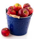 Bucket red apples Royalty Free Stock Photo
