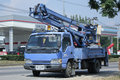 Bucket truck of Nongjom Subdistrict Administrative Organization Royalty Free Stock Photo