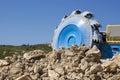 Bucket wheel excavator in exploitation Royalty Free Stock Photos