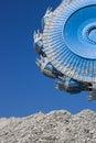 Bucket wheel excavator quarry with Royalty Free Stock Photo