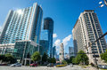 Buckhead the uptown section of atlanta georgia a view skyline Royalty Free Stock Photography