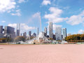 Buckingham Fountain at Grant Park in Chicago, United States Royalty Free Stock Photo