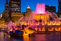 Buckingham fountain at night in grant park chicago Royalty Free Stock Photo