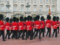 Buckingham palace changing of the guard colorful ceremony at Royalty Free Stock Photo