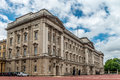 Buckingham palace east front is located in the city of westminster the is a setting for state occasions and royal hospitality it Royalty Free Stock Image