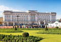 Buckingham Palace in London in a beautiful day Royalty Free Stock Photo