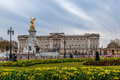 Buckingham palace in spring, Westminster Royalty Free Stock Photo