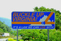 Buckle up Virginia Royalty Free Stock Photo