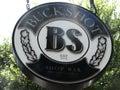 Buckshot shot bar sign in austin texas Stock Photo