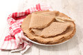 Buckwheat crepe Royalty Free Stock Photo