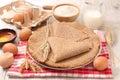 Buckwheat crepe Royalty Free Stock Photo