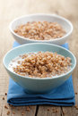 Buckwheat groats with milk Stock Photography