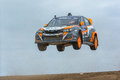 Bucky Lasek rally driver jumps Royalty Free Stock Photo