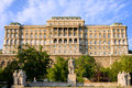 Buda Castle Facade in Budapest Royalty Free Stock Photo