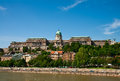 Buda castle seen across the danube Stock Photo
