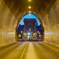 Buda Castle Tunnel and Chain Bridge, Budapest Royalty Free Stock Photo