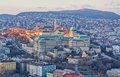 Buda castle view from Gellert hill, Budapest Royalty Free Stock Photo
