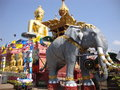 Buda and elephant golden triangle chiang rai province northern thailand border between thailand laos myanmar Stock Image