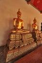 Buda em wat pho temple bangkok tailândia Imagem de Stock Royalty Free