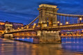 Budapest Bridge Stock Photography