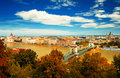 Budapest city in autumn Stock Image