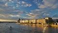 Budapest city skyline panorama on the Danube Royalty Free Stock Photo